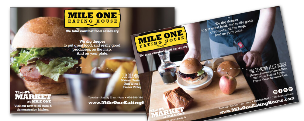 Pemberton Graphic Design - Ad Campaign for Mile One Eating House