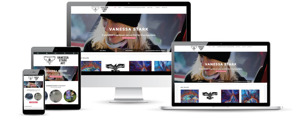 Pemberton E-commerce Web Design and Development for Vanessa Stark Art